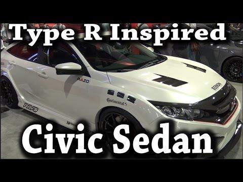 😀🚗🏁Type R inspired 2016 Civic Sedan by Seibon Carbon Honda of Santa Maria