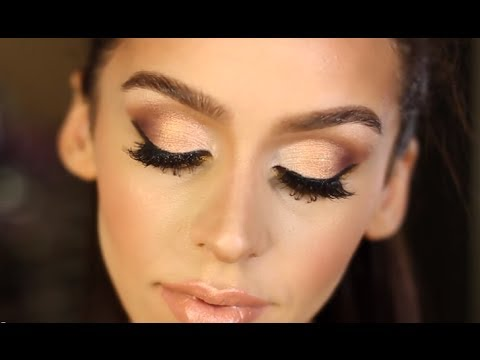 Gold & Bronze Smokey Eye Makeup Tutorial
