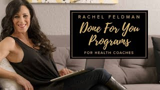 Learn how to Launch and Online Weight Loss Program by Rachel Feldman for health coaches