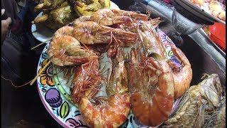 Indonesia Surabaya Street Food 1774 Part.1 Fried Shrimp Udang Goreng Lapangan Kodam Brawijaya