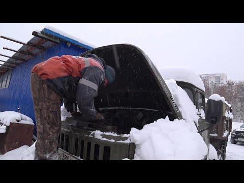 ЗИЛ 131 Заводим после простоя в Мороз