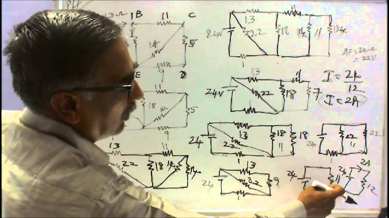 Basics Of Electrical Engineering Part 07 Worked Examples On Real Life Example A Parallel Circuit Series Circuits Youtube