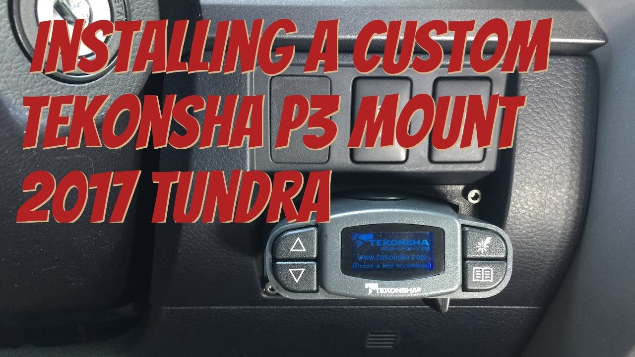 Replacing 2017 Tundra ITBC with Tekonsha P3 Brake Controller w