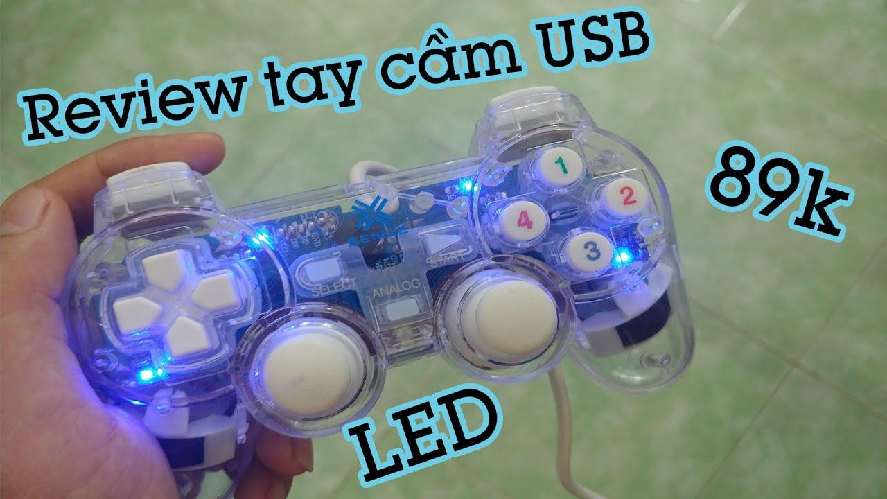 [Review] Tay cầm USB LED 89k mua Tiki ✅