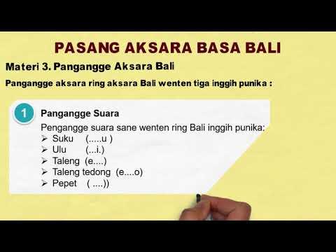 Pengangge Basa Bali Youtube