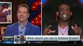 Deion Sanders: What would you say to Antonio Brown, Patriots beat Steelers 33-3