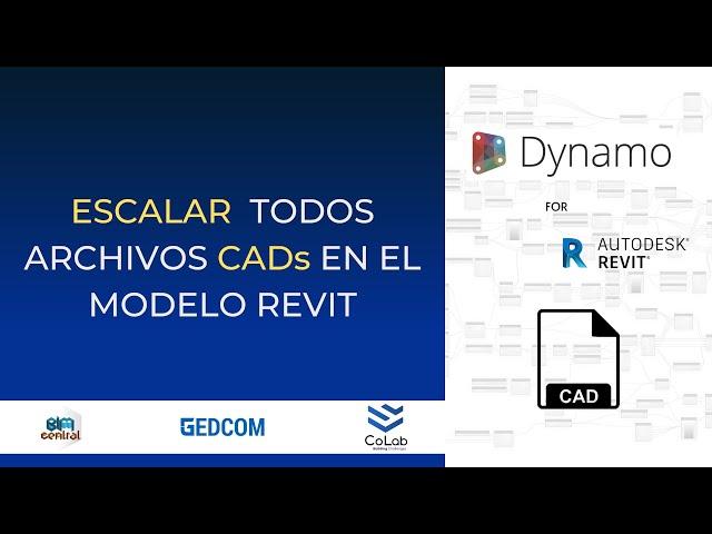 Escalar multiples archivos CAD en  Revit con Dynamo | Demostración