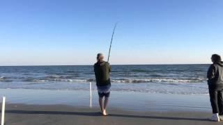 North Myrtle Beach S.C. USA Surf Fishing(surf fishing on north myrtle beach usa., 2013-10-29T11:55:35.000Z)