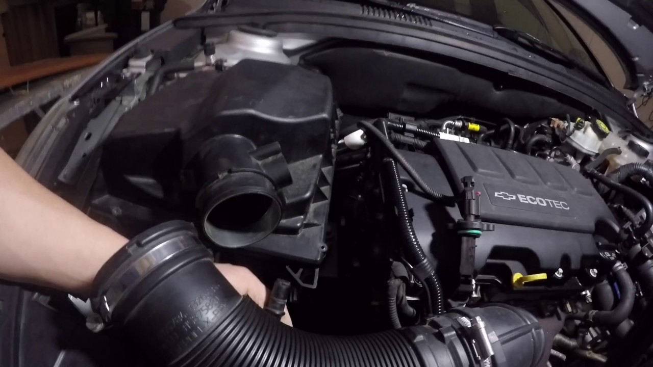 How To Remove Your Intake On A Chevy Cruze Youtube