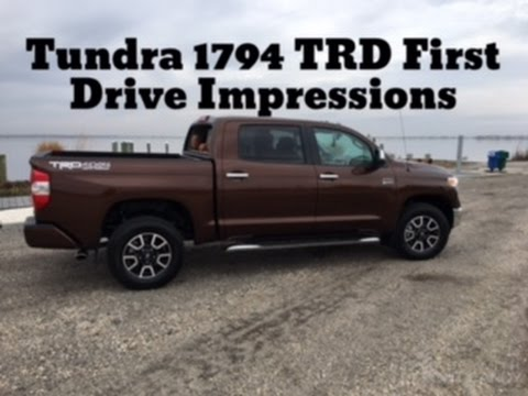 1794 Toyota Tundra >> 2017 Toyota Tundra 1794 TRD: First Drive Impressions - YouTube