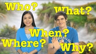 Who, What, Where, When, Why in Chinese! | Learn Chinese Now