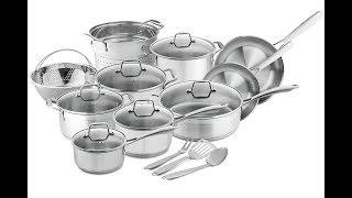 Chef's Star 17-Piece Pots & Pans Stainless Steel - 17 Piece Professional Grade Pots & Pans Set