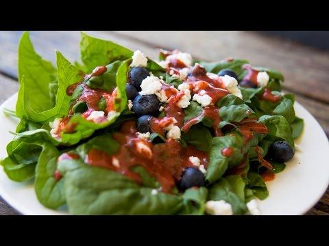 Strawberry Vinaigrette + Fresh Spinach Salad