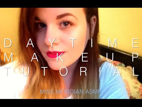 Spring/Summer makeup tutorial   soft whispered tutorial with lip-smacking. ASMR.