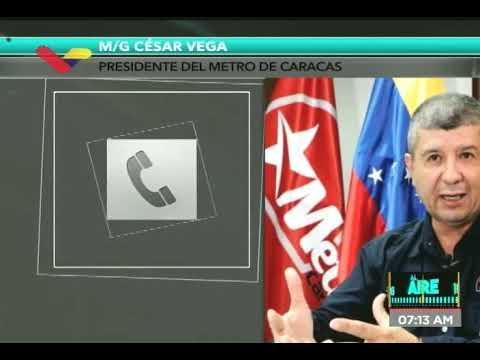 Presidente del Metro de Caracas sobre cortes de cable que afectan el servicio este viernes