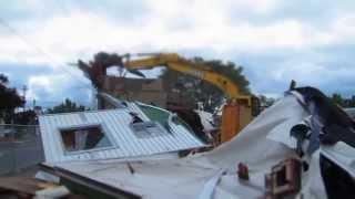 Shoddy East wall demolition Portland, Oregon Gregory Pacific Corp