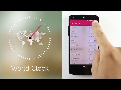 World Clock App | Alarm & Widget | Android ,iOS App from AppSourceHub