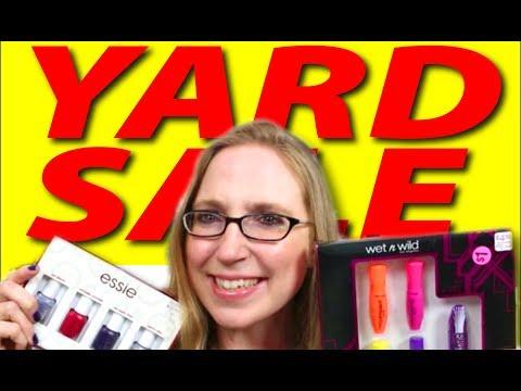 FINALLY! Another Yard Sale Haul! Nail Polish SCORE + Makeup & Clothes HI JEN!!