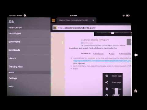 How to get clash of clans for Kindle Fire HD and HDX