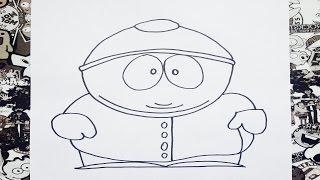 Como dibujar a cartman de south park | how to draw cartman | como desenhar o cartman
