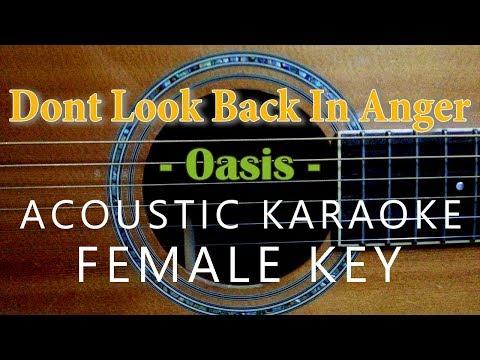Don't Look Back In Anger Karaoke - Oasis [Acoustic Karaoke | Female Key]