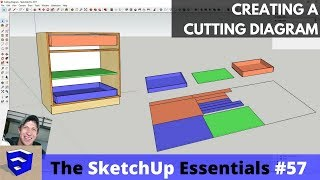Creating a Cutting Layout in SketchUp for Woodworkers - The SketchUp Essentials