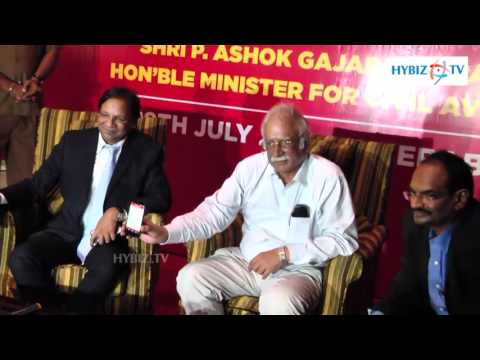 Ashok Gajapathi Raju Launches Spicejet Smart Check-In Facility in Hyderabad