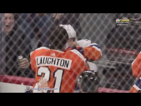 Jordan Eberle vs Scott Laughton Jan 4, 2018