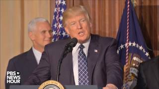President Trump signs executive order on climate regulations