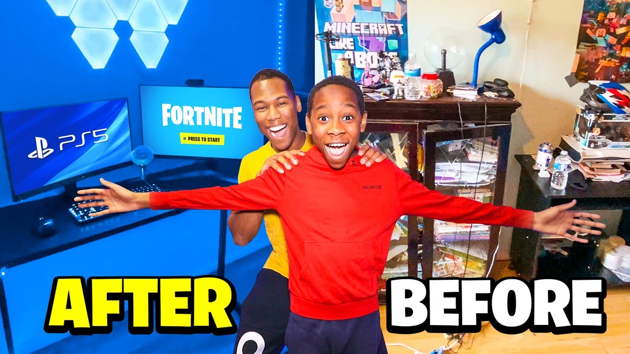 Download Transforming My Brother's Room Into His Dream Gaming Setup - $10,000