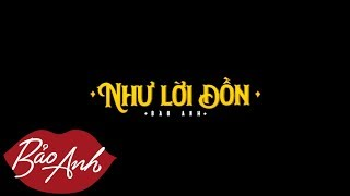 Như Lời Đồn | Bảo Anh (Teaser Official) (#NLD)