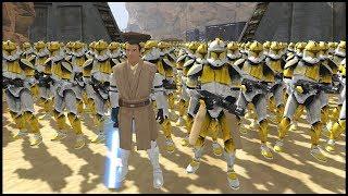 Clone Mountain Military Super Fortress! - Men of War: Star Wars Mod Battle Simulator