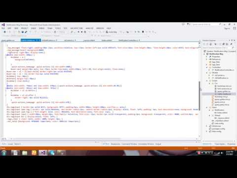 Bootstrap notification Message In ASP MVC - YouTube