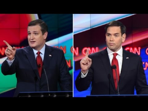 U.S. presidential campaign: Ted Cruz vs. Marco Rubio