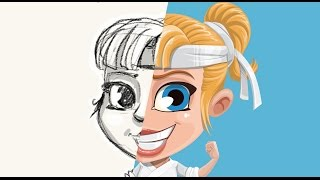 Drawing a girl character - Karate girl - Sketch to Finish