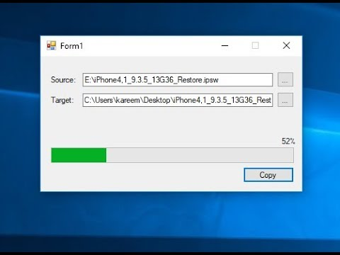 Copy File With Progressbar In C#