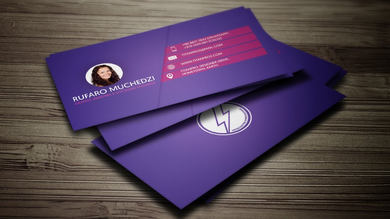 Modern Business Card (print Ready + Mockup) In Coreldraw  Purplestroke  Design™