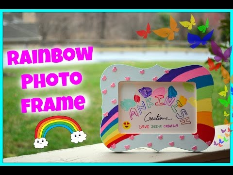 How to paint a Photo frame!! DIY:Rainbow photo frame!! Kids Craft !!
