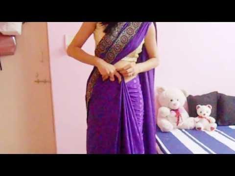 Saree Draping Video/How To Wear A Sari/Wrap A Bollywood Saree-Carry Sari As A Model