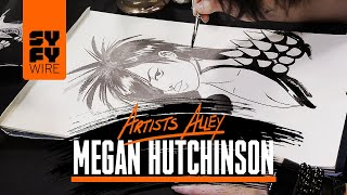 Rockstars Comic Book Artist Megan Hutchinson Sketches Dani Dangerous (Artists Alley) | SYFY WIRE