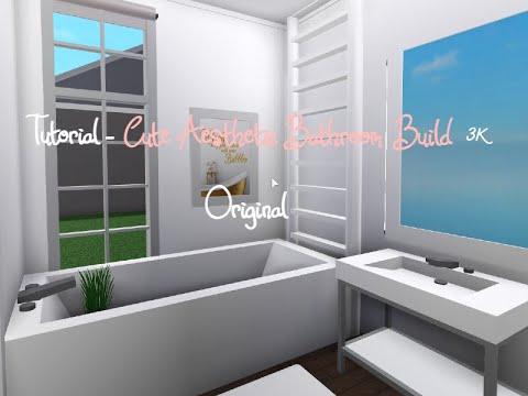 Cute Aesthetic Bloxburg Cheap Bathroom 3k - YouTube
