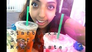 STARBUCKS SECRET MENU TASTE TEST #1-- PINK DRINK?!?