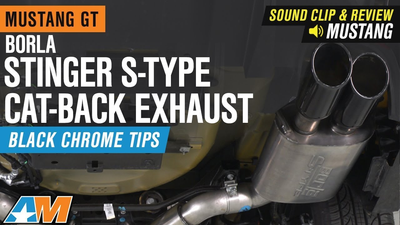 2018 2020 borla stinger s type exhaust system w black tips active exhaust sound clip review