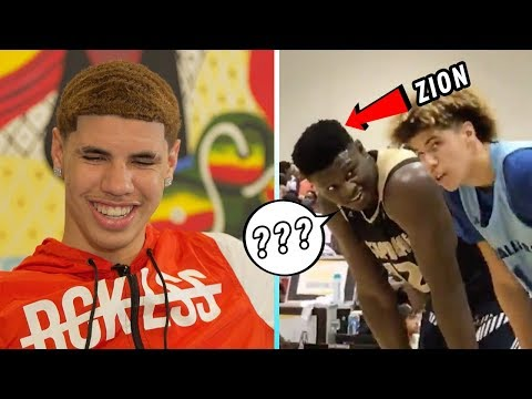 LaMelo Ball Reacts To Playing ZION WILLIAMSON! Reveals HUGE SECRET About Shareef O'Neal & Zion 😱