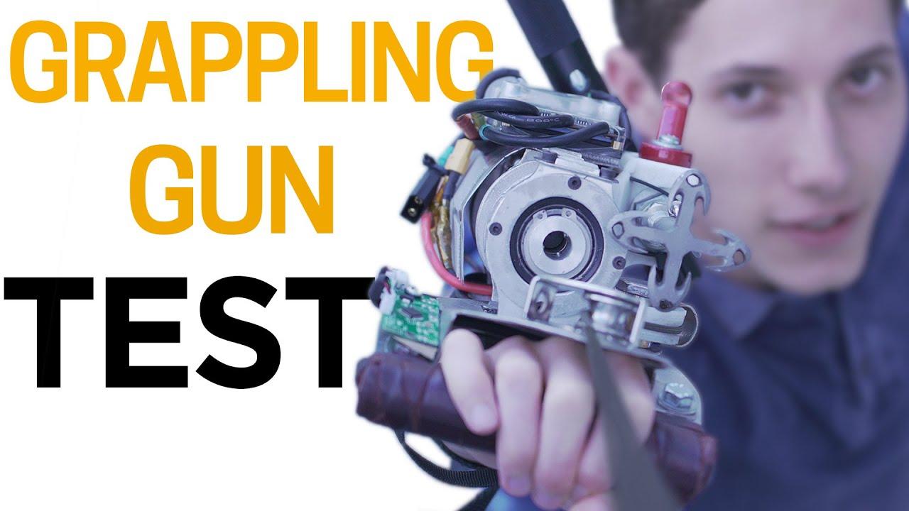 TESTING my Grappling Gun - Built IRL