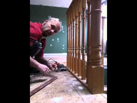 Laminate Floating Floor Installation, How To Install Laminate Flooring Around Stair Railings