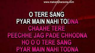 Video karaoke Tere Sang Pyar Main - Nagin | Mahendra Kapoor | Lata Mangeshkar