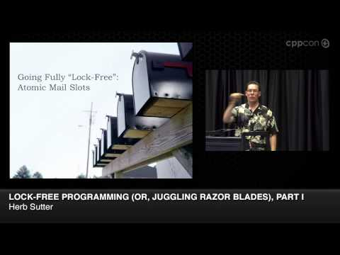"CppCon 2014: Herb Sutter ""Lock-Free Programming (or, Juggling Razor Blades), Part I"""