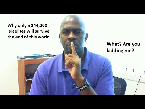 Why  only 144000  Negro- Israel will be saved from the coming final judgment of destruction.