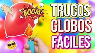 TRUCOS CON GLOBOS   Experimentos faciles con globos   Trucos caseros